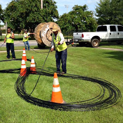 Fiber optic cable installation